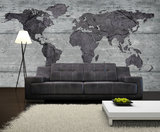 World Map Photo Wall Mural 2854P8_