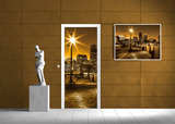 City Urban Door Mural Photo Wallpaper 285VET_