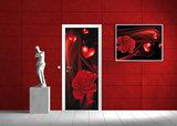 Red Hearts Art Abstract Door Mural Photo Wallpaper 300VET_