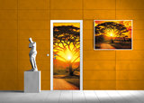 Sunset Landscape Door Mural Photo Wallpaper 400VET_