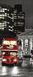 London and Red Double Decker Door Mural Photo Wallpaper 196VET_