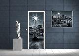 New York at Night Door Mural Photo Wallpaper 275VET_