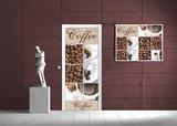 Coffee Beans and Cups Collage Door Mural Photo Wallpaper 114VET_