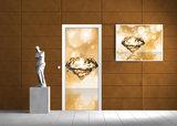 Diamond Gold Abstract Door Mural Photo Wallpaper 012VET_