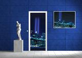 New York City Skyline Urban Bridge Door Mural Photo Wallpaper 134VET_