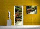 Forest Wood Landscape Trees Animals Door Mural Photo Wallpaper 147VET_
