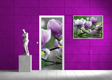 Flowers Door Mural Photo Wallpaper 160VET_