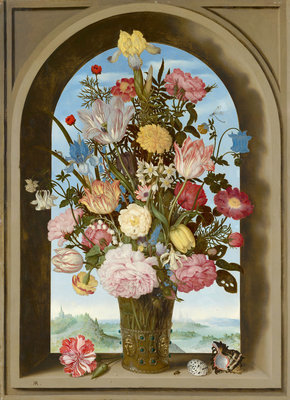 Mauritshuis Ambrosius Bosschaert de Oude, Flowers 1618 MH6 (FREE Glue Included!)