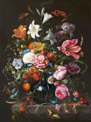 Mauritshuis Jan Davidsz de Heem, Flowers 1670 MH2 (FREE Glue Included!)