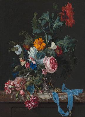 Mauritshuis Willem van Aelst, Flowers 1663 MH3 (FREE Glue Included!)