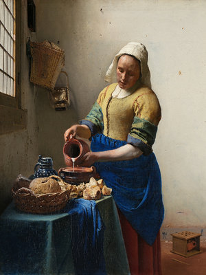 Rijksmuseum The Milkmaid Johannes Vermeer RM39 (FREE Glue Included!)
