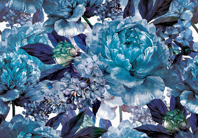 Blue Flowers Photo Wall Mural 13531P8