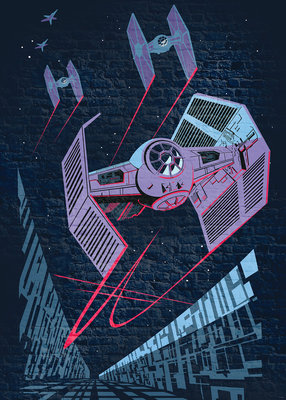 Star Wars Classic Concrete TIE-Fighter DX4-038