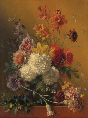 Rijksmuseum Flowers Georgius Jacobus Johannes van Os RM11 (FREE Glue Included!)