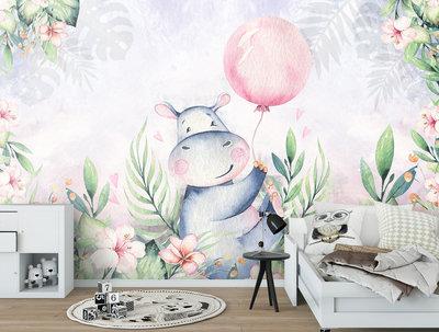 Hippo Photo Wall Mural 13638P8