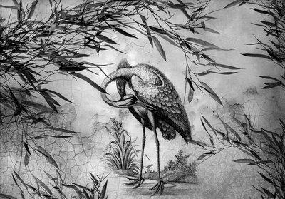 Crane Bird Photo Wall Mural 13695P8