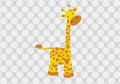 Baby Giraffe Photo Wall Mural 10992P8