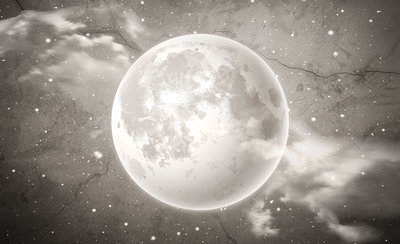 Moon Photo Wall Mural 13575P8