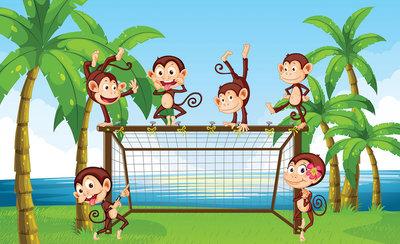 Monkeys Photo Wallpaper Mural 2961P8