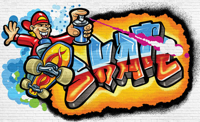 Graffiti Photo Wallpaper Mural 3052P8