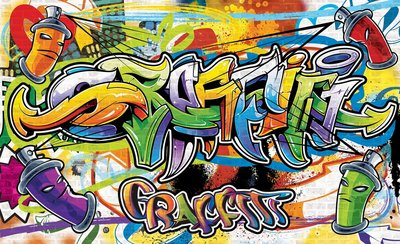 Graffiti Photo Wallpaper Mural 1400P8