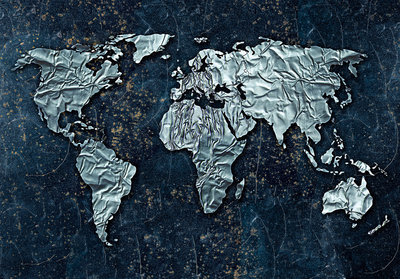World Map Photo Wallpaper Mural 10385P8