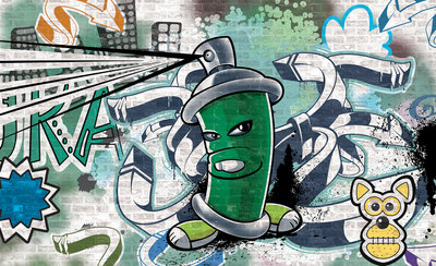 Graffiti Photo Wallpaper Mural 1396P8