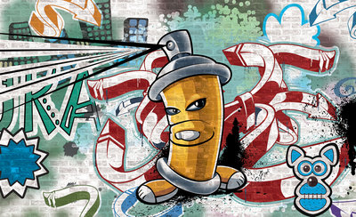 Graffiti Photo Wallpaper Mural 1397P8