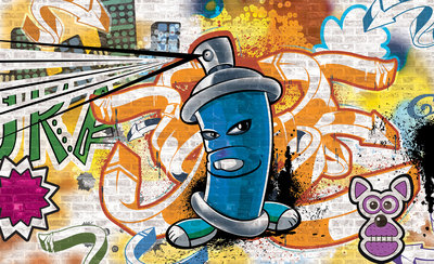 Graffiti Photo Wallpaper Mural 1398P8