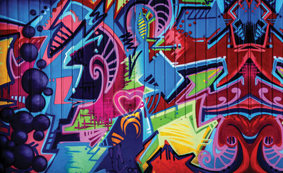 Graffiti Photo Wallpaper Mural 1508P8