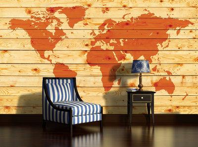 World Map Photo Wallpaper Mural 1971P8