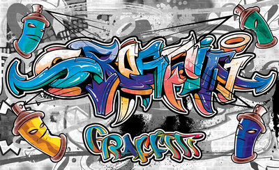Graffiti Photo Wallpaper Mural 2294P8