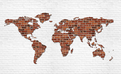 World Map Photo Wall Mural 2853P8