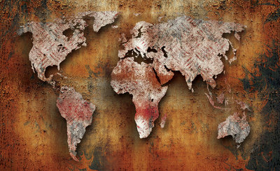 World Map Photo Wall Mural 2892P8