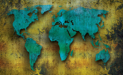 World Map Photo Wall Mural 2893P8