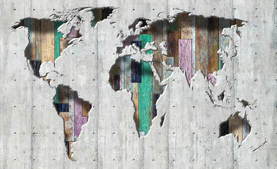 World Map Photo Wall Mural 3134P8