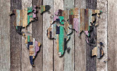 World Map Photo Wall Mural 3135P8