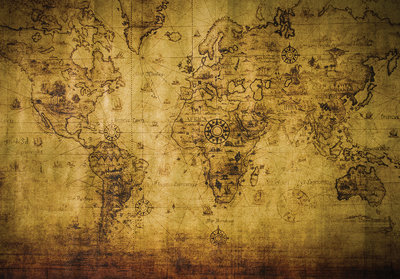 World Map Photo Wall Mural 3600P8
