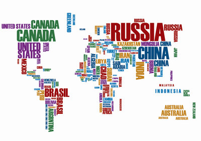 World Map Photo Wall Mural 3676P8