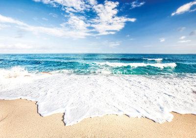 Photo Wall Mural Beach waves 10218P8