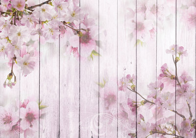 Wood Flowers Photo Wall Mural 11468P8