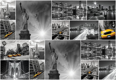 New York Collage Photo Wall Mural 10461P8