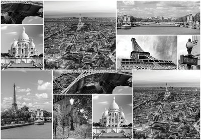Paris Collage Photo Wall Mural 10458P8
