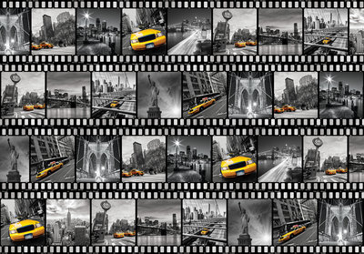 New York Collage Photo Wall Mural 10457P8