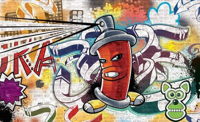 Graffiti Photo Wallpaper Mural 1395P8