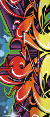 Colourful Graffiti Door Mural Photo Wallpaper 140VET
