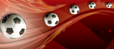 Footballs on Red Background Door Mural Photo Wallpaper 3386VET