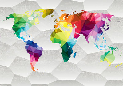 World Map Photo Wall Mural 11191P8