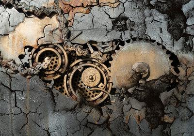 Concrete Mechanisch Photo Wall Mural 12612P8