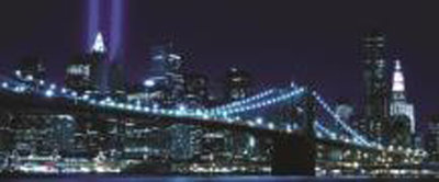 New York Brooklyn Bridge City Panoramic Photo Wall Mural 232VEP